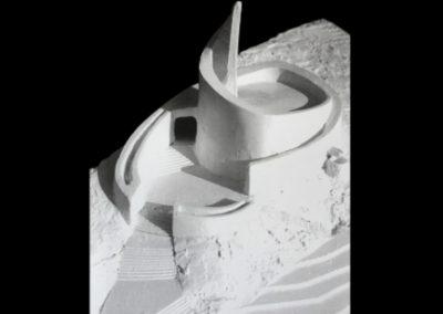 1969 – Étude volumétrique du Temple Saint-Jean. La Chaux-de-Fonds. Suisse.