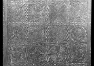 1966 – Projet de porte en plomb gravé d'après des motifs sardes