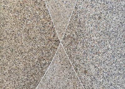 Gros sable couleurs naturelles. Revêtement de sol.