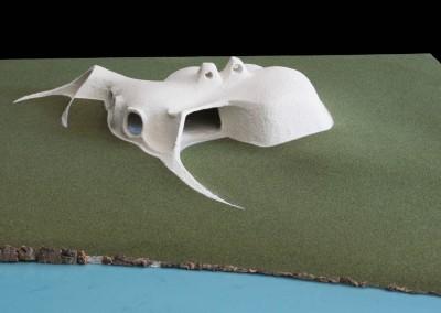 1969 – Habitation-sculpture pour un artiste miniaturiste. Sauvergny. Suisse.