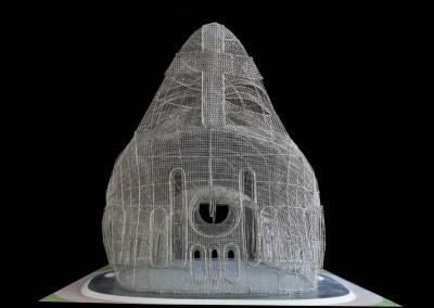 1995 – Cathédrale de rêve. Etude de lastructure métallique.