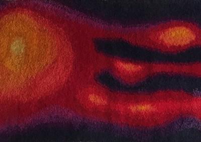 1968 – Tapisserie en laine réalisée au crochet