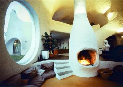 1972 – Intérieur de la villa d'Anières. Suisse.