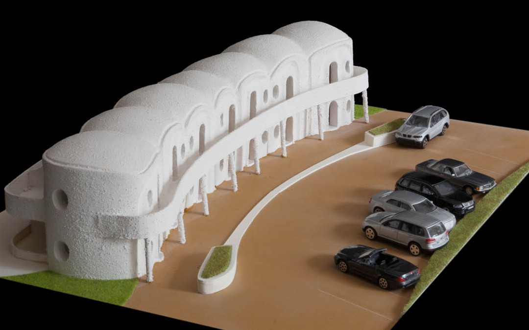 2007 – Motel à deux niveaux. Complexe de Bouzedjar. Algérie.