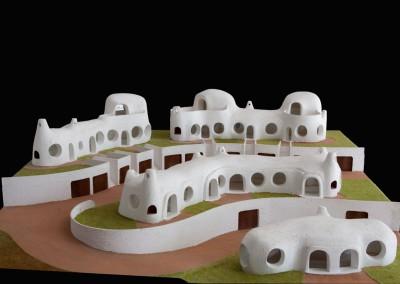 1995 – Habitations sur la colline. Complexe de Bouzedjar. Algérie.