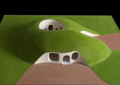2000 – Club House recouvert de gazon pour un club de golf. Savoie. France.