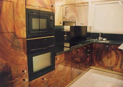 2002 – Cuisine en cuivre oxydé et patiné. Paris. France