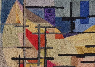 1963 – Tapisserie en tissus, technique du patchwork